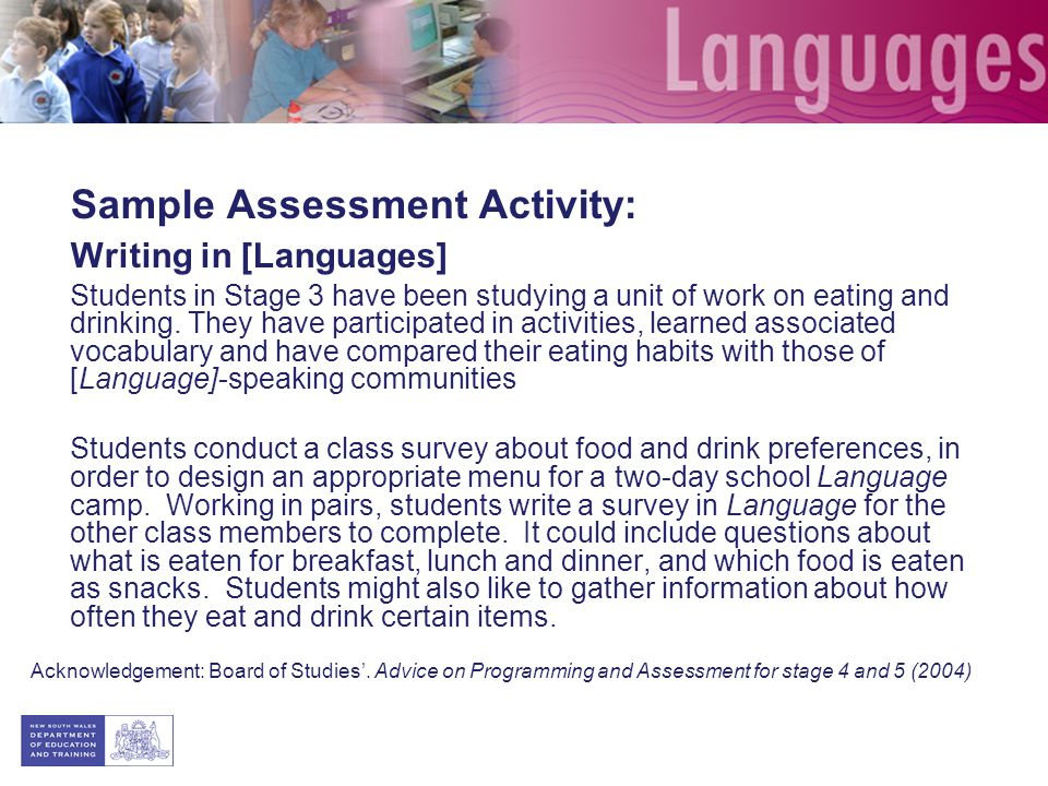 Assessment Assessment Should Be An Integral Part Of A Unit Of Work